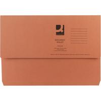 Foolscap Document Wallet - Orange - 285gsm - Pack of 50