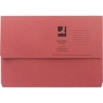 Foolscap Document Wallet - Red - 285gsm - Pack of 50