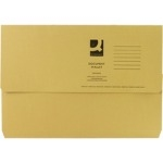 Foolscap Document Wallet - Yellow - 285gsm - Pack of 50