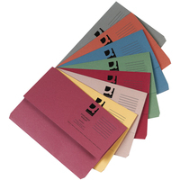 Foolscap Document Wallet - Assorted - 285gsm - Pack of 50