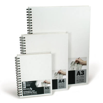 Reeves A4 Canvas Covered Sketch Books - 120gsm - Each