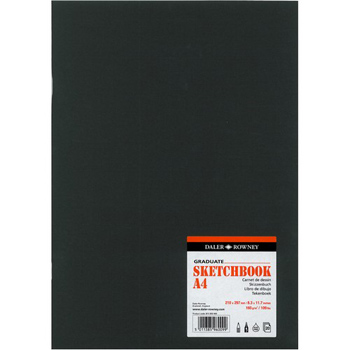 Daler Rowney Graduate A4 Card Cover Sketch Book - 140gsm - Each