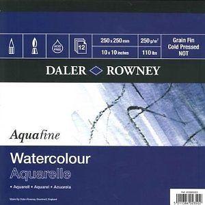 Daler Rowney Aquarelle Watercolour Pad - 25 x 25cm - 250gsm - Each