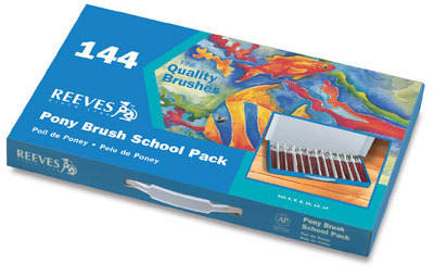 Reeves Watercolour Brushes - Assorted - Class Pack of 144