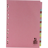 Subject Divider - A4 - 20-Part - Assorted - Pack of 20