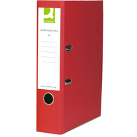 Q Connect Lever Arch File A4 Paper-Backed Red