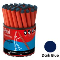 Berol Handwriting Pens - Blue - Tub of 42
