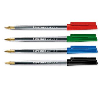 Staedtler Stick 430M Ball Pens - Black - Pack of 10