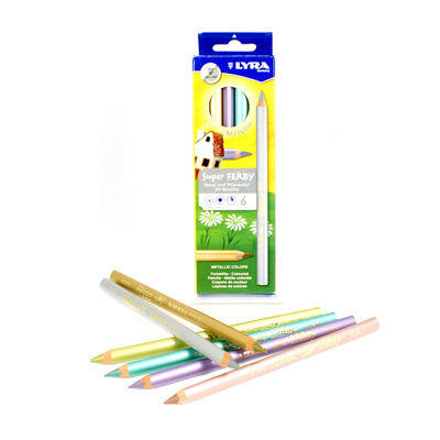 Lyra Super Ferby Metallic Pencils - Assorted - Pack of 6