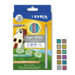 Lyra Super Ferby Metallic Pencils - Assorted - Pack of 12