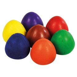 Chubbi Wax Egg Crayons - Assorted - Pack of 8 - 18 months+