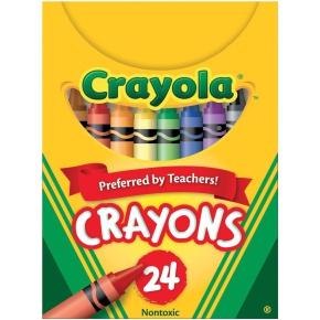 Crayola Wax Crayons - Assorted - Pack of 24