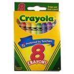 Crayola Wax Crayons - Assorted - Pack of 8