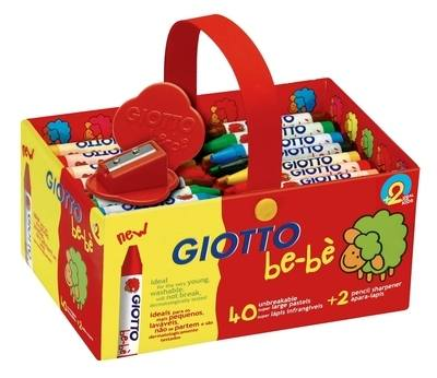 Giotto Be-Be Super Crayons - Assorted - Schoolpack of 40 - 2 Years+