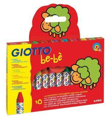 Giotto Be-Be Super Crayons - Assorted - Pack of 10 - 2 Years+