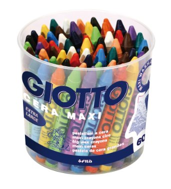 Giotto Maxi Wax Crayons - Assorted - Tub of 60