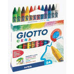 Giotto Standard Wax Crayons - Assorted - Pack of 24