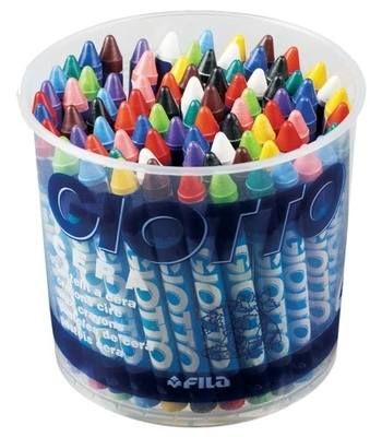 Giotto Standard Wax Crayons - Assorted - Tub of 84