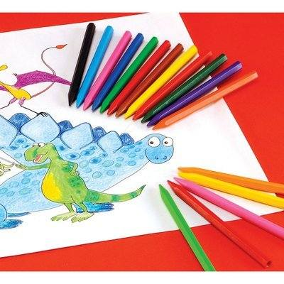 Plastix Crayons - Assorted - Pack of 12