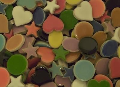 Ceramic Shapes - Assorted - 300g