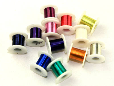 Coloured Wire Spools - Assorted - Pack of 12 x 4.5m
