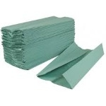 Paper Hand Towels - Green - C-Fold - 1-Ply - Box of 2955