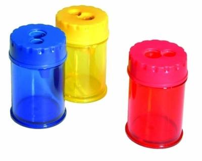 Double Hole Barrel Sharpener - Assorted - Pack of 12