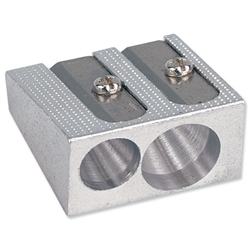 Metal Pencil Sharpeners - Double Hole - Pack of 10