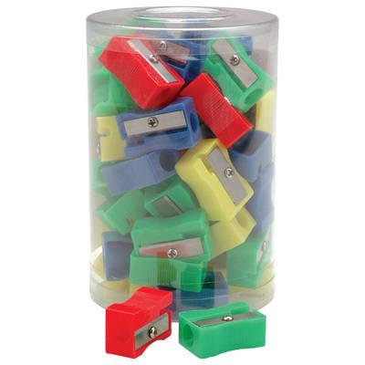 Plastic Pencil Sharpeners - Assorted - Tub of 30