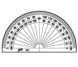 Semi Circular Protractor - 10cms - Pack of 10