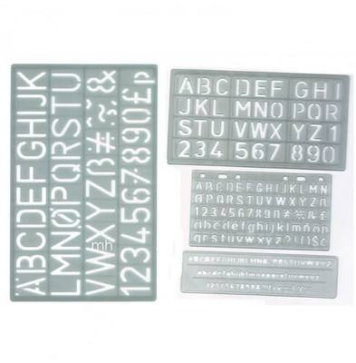 Lettering Stencils - Assorted - Set of 4