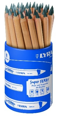 Lyra Super Ferby HB Graphite Pencil - Tub of 36