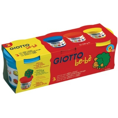 Giotto Be-Be Modelling Dough - Assorted - Pack of 3 - 2 Years+