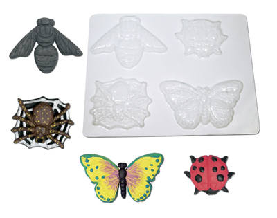 Papier Mache Bug Moulds - Assorted - Pack of 6