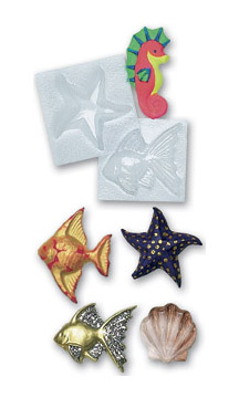 Papier Mache Sealife Moulds - Assorted - Pack of 6