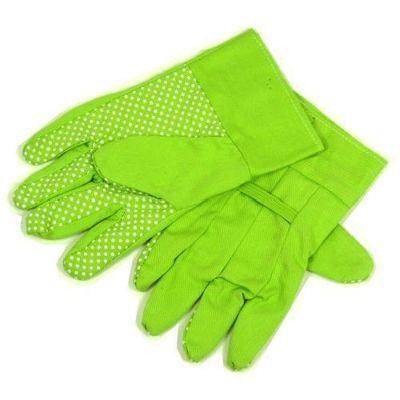 Childrens Green Cotton Gardening Gloves - Per Pair