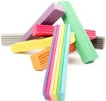 Plasticine - Rainbow Assorted - 500g Bar - Each