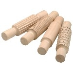 Wooden Pattern Rolling Pins - Assorted - Pack of 4
