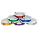 Metallic Craft Wire - Assorted - Pack of 6 x 12m