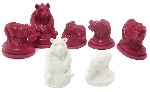 Latex Moulds - Wild Animals - Assorted - Pack of 5