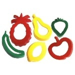 Fruit Shape Cutters - Assorted - Pack of 6