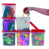 Translucent Plastic Storage Containers - 5 Litre - Pack of 10