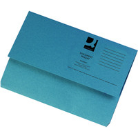 Foolscap Document Wallet - Blue - 285gsm - Pack of 10