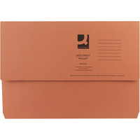 Foolscap Document Wallet - Orange - 285gsm - Pack of 10