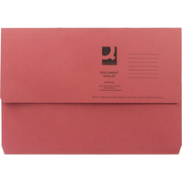 Foolscap Document Wallet - Red - 285gsm - Pack of 10