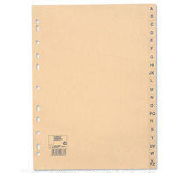 Subject Dividers - A4 - A-Z - Pack of 20