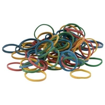 Coloured Rubber Bands - Assorted - 45g