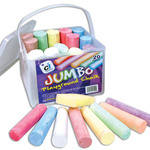 Jumbo Playground Chalk - Assorted - Tub of 20