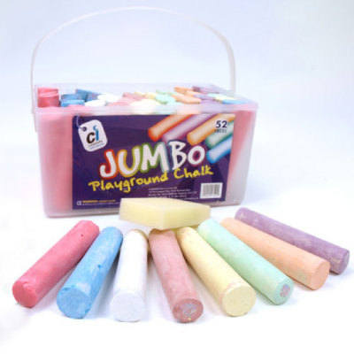 Playground Chalk - Assorted - Tub of 52