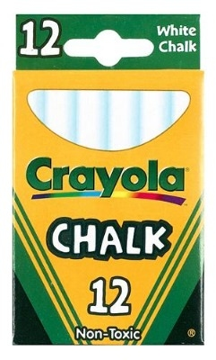 Crayola Anti-Dust Chalk - White - Pack of 12